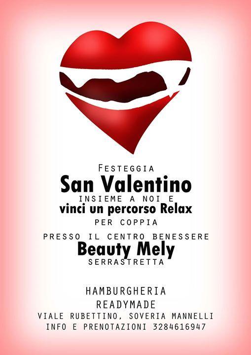 """Festeggia San Valentino insieme a noi e vinci la possibilità di un pacchetto """"Relax"""" per coppia presso il Centro Benessere Beauty Mely a Serrastretta"""