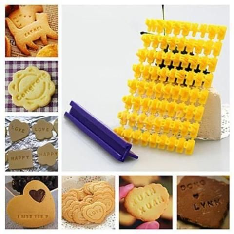 BD 1set High Quality Cookie Alphabet Letter Numbers Stamp Cake Decorating Tools