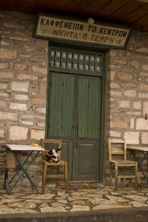 """ ""Traditional Kafenio"" in Stemnitsa (pref. of Arcadia)  ""  photo by ""Oi Omorfies tis Elladas Mas"" (The beauties of Hellas)"