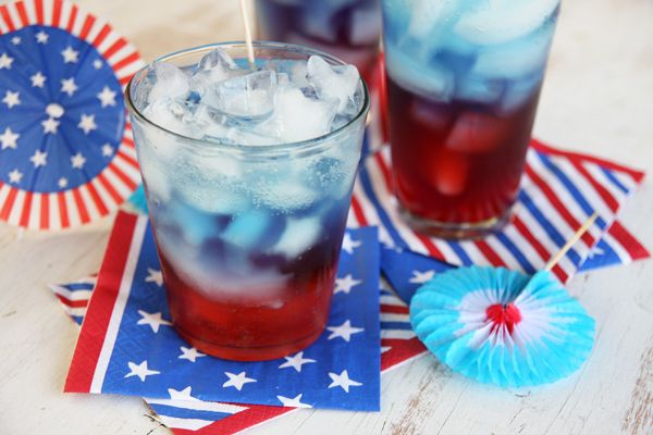 10 Amazing (and Delicious!) 4th of July Recipes (Except the watermelon one. That one actually offends me.): Idea, July Recipes, Food, 4Th Of July, Punch Recipe, Patriotic Punch, Party, Drink Recipes, Drinks
