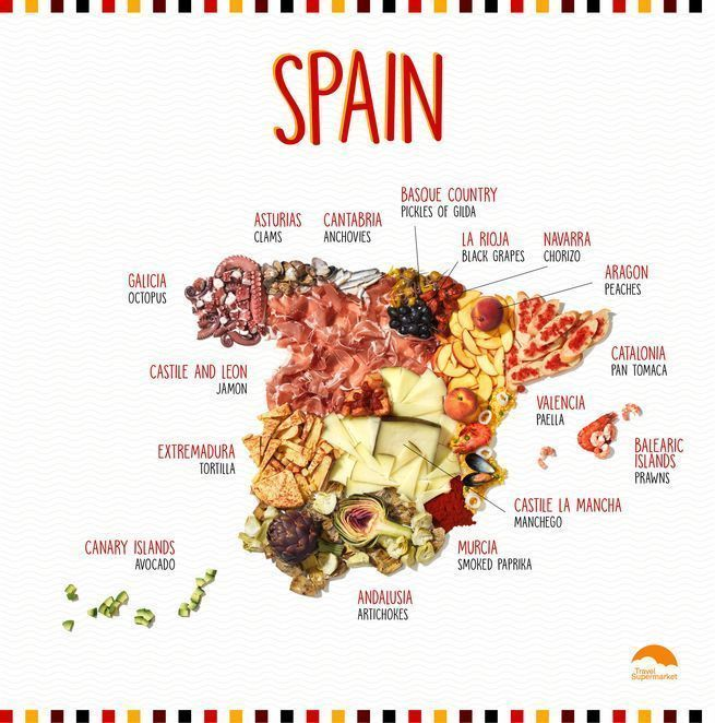 Regional Map Of Spain.This Food Stylist Makes Maps Out Of Regional Delicacies In 2019