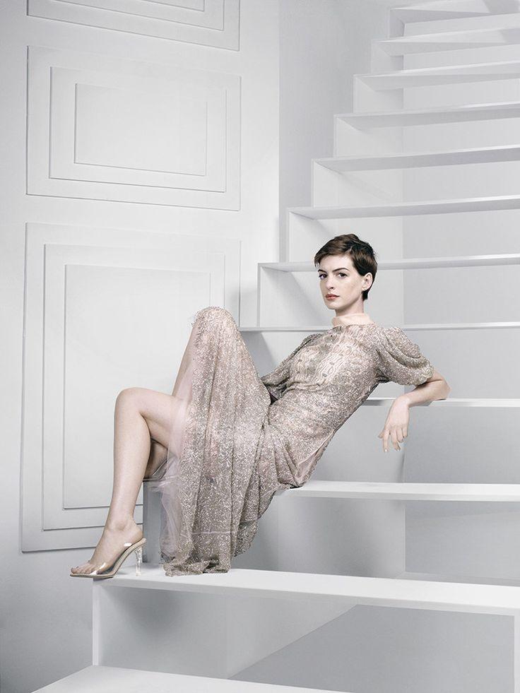 Anne Hathaway photographed by David Slijper for Harper's Bazaar UK, February 2013