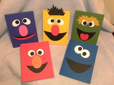 Sesame Street gang....I really need to make some of these. So popular for kids and Operation Write Home.