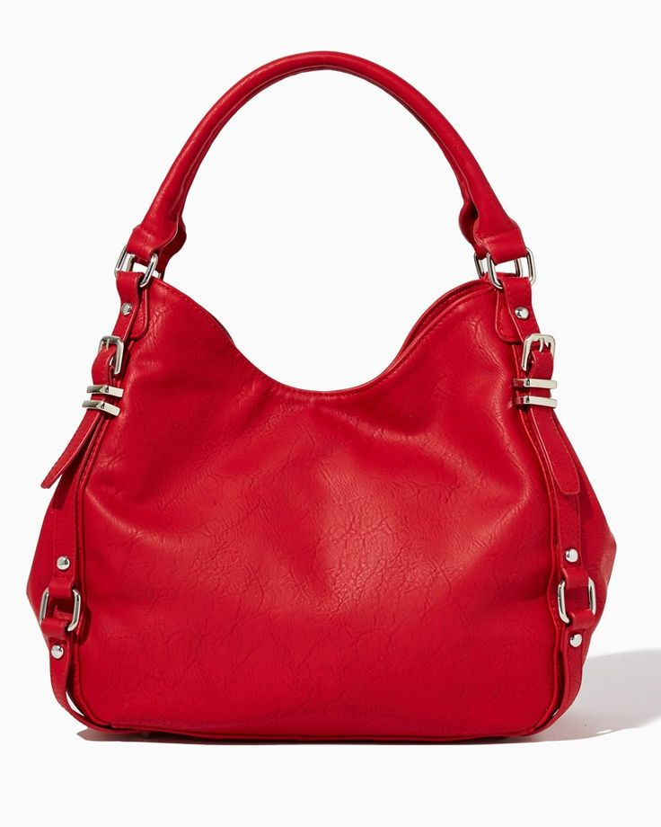 charming charlie | Calley Multi-Buckle Hobo | UPC: 450900445775 #charmingcharlie