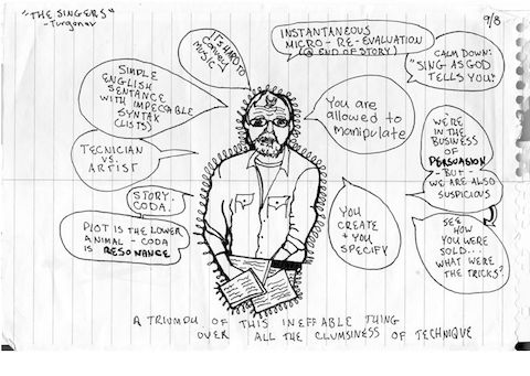 George Saunders' Lectures on the Russian Greats Brought to Life in Student SketchesStudent Sketches, Literature News, Classic Russian, Saunders Author, Shorts Stories, Rebecca Fishow, Russian Shorts, George Saunders, Stories Writers
