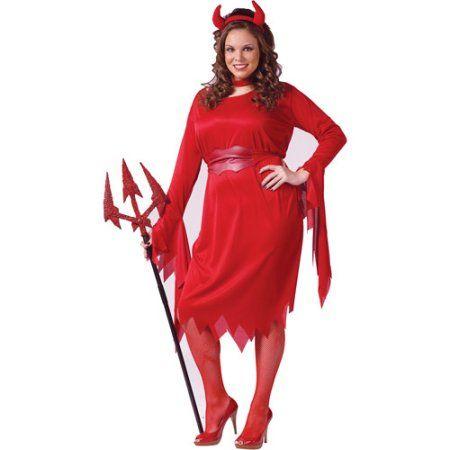 Delightful Devil Plus Size Adult Halloween Costume, Women's, Size: 1XL, Blue