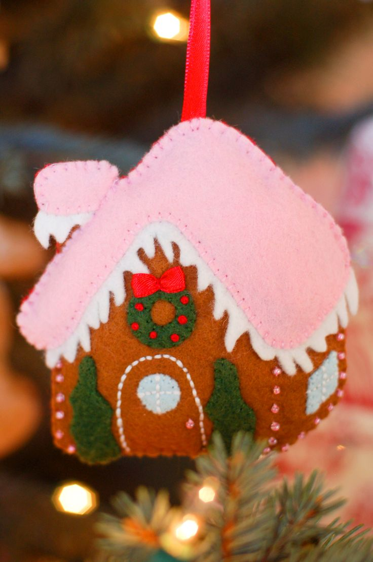 Felt Gingerbread House Ornament pattern from Imagine our Life