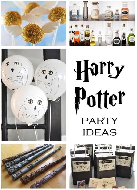 Harry Potter Party Ideas...a lot of fun and easy ideas