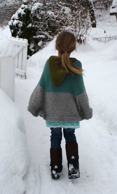 love this cape pattern!: Kids Capes, Knitting Patterns, Free Patterns, Hooded Capes, Cape Pattern, Knit Patterns