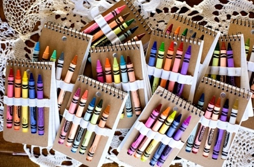 Party favors for children --- do with sustainable beeswax crayons --- possibly even crayons they made together at party