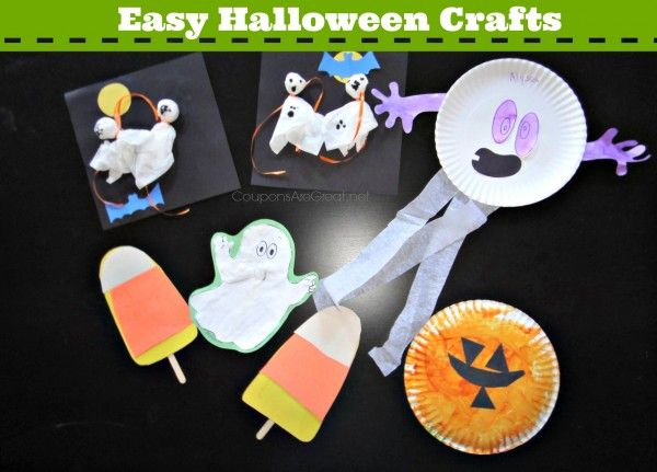 Easy Halloween Crafts - For Toddlers, Preschoolers, and Elementary aged.  Really, a craft for everyone! #crafts #halloween