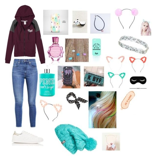 """""""Untitled #78"""" by watermelon-clo ❤ liked on Polyvore featuring Victoria's Secret, Levi's, adidas, Oscar de la Renta, TONYMOLY, Ivory Ella, The North Face, Accessorize, Forever 21 and claire's"""