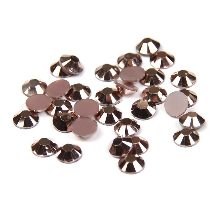 1000pcs 2-5mm Copper Color Resin Rhinestones Flatback Facets Non Hotfix Glue On Diamonds DIY 3D Nail Art Clothes Bag Accessories