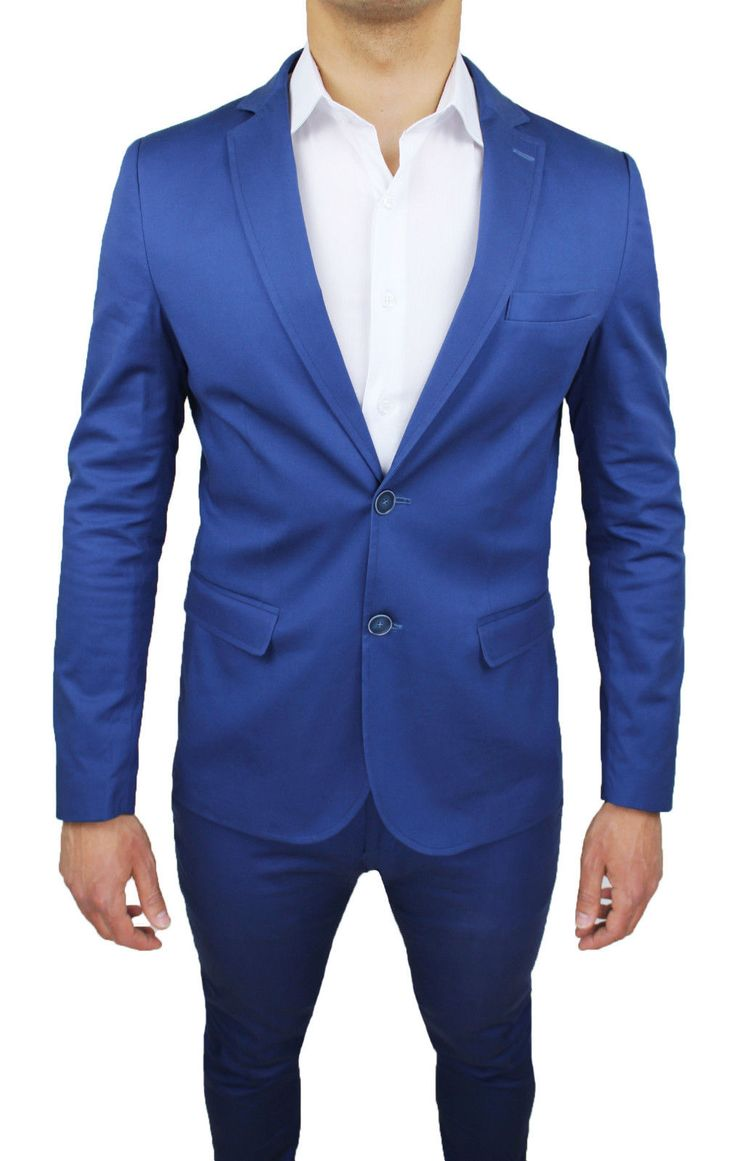Vestito blu elettrico uomo translation