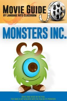 Monsters Inc. is rated G. It is about monsters who collect screams for energy. This movie guide has thirty questions and teaching suggestions.