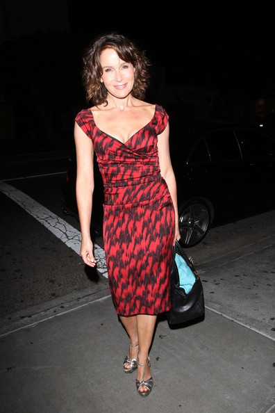 "Jennifer Grey prepares for some ""Dirty Dancing"" as she joins the cast of ""Dancing with the Stars"". Jennifer and her husband Clark Gregg joined the rest of the ""DWTS"" cast for a soiree at STK restaurant in West Hollywood."