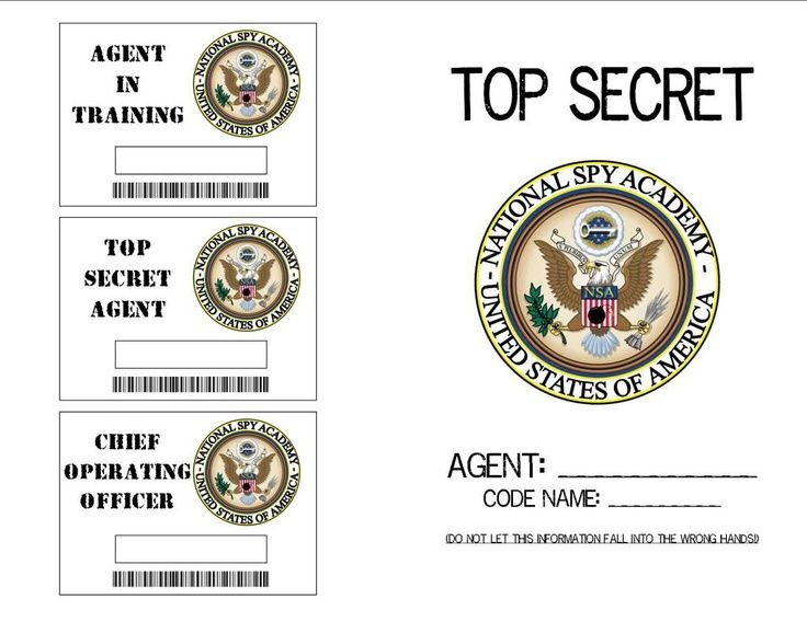 spy id card template - pin fake printable spy badges for kids on pinterest