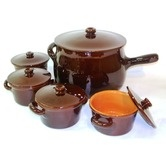 Found it at Wayfair - Italian Terracotta Stew Soup Pot and Crock with Lid ***cg