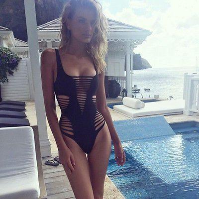 2014 Sexy Women Push Up Bikini Bandage Monokini Swimsuit Bathing suit Women summer Swimwear Beachwear