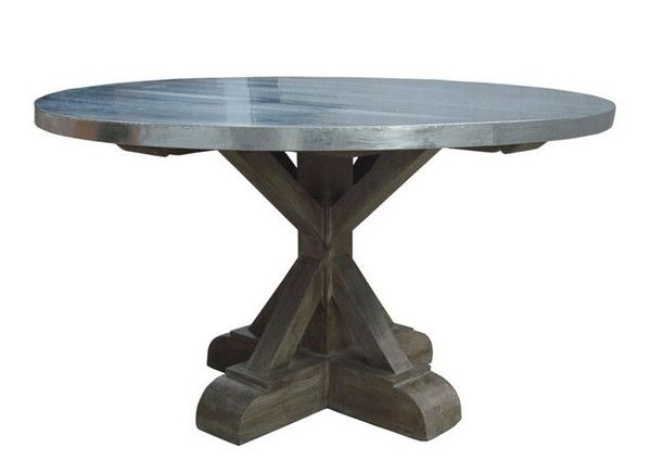 Zinc Round Dining Table From Cotton U0026 Wood | Dining Room | Pinterest | Round  Dining Table, Woods And Nest