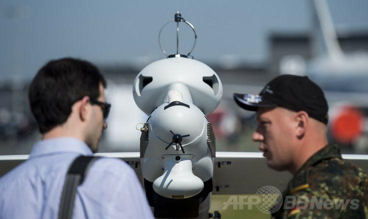 ドイツ・ベルリン(Berlin)で開催のベルリン国際航空宇宙ショー(ILA)で展示された独連邦軍の無人機「Luna」(2014年5月20日撮影)。(c)AFP/JOHANNES EISELE ▼22May2014AFP 電気飛行機や無人機が登場、ベルリン国際航空宇宙ショー http://www.afpbb.com/articles/-/3015614 #ILA_Berlin_Air_Show #Internationale_Luft_und_Raumfahrtausstellung_Berlin #Exhibicion_Aeroespacial_Internacional #Salon_aeronautique_international_de_Berlin #Luna