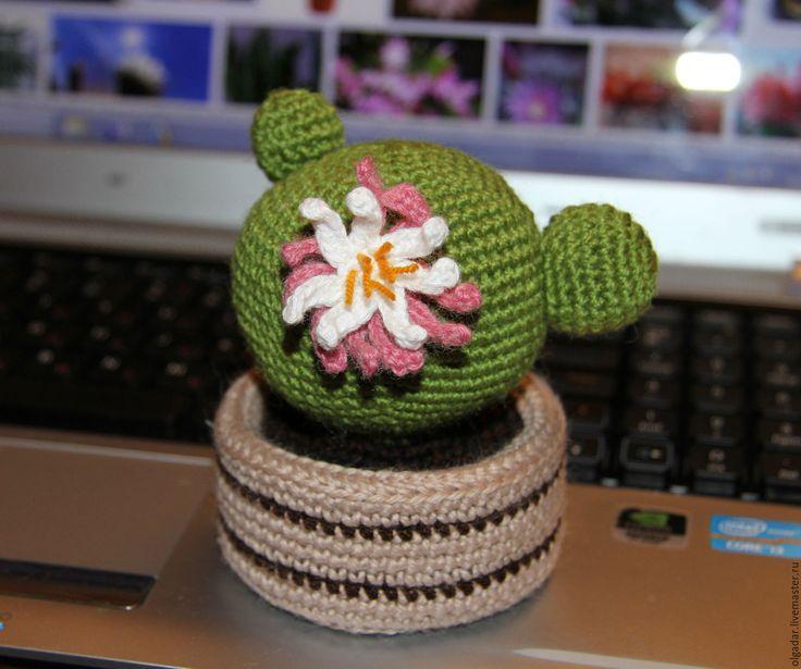 Купить Кактус вязаный крючком - кактус, зеленый, игольница, крючком, амигуруми…