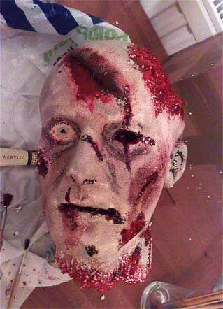 severed zombie head prop halloween #halloween #prop