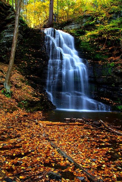 Photographed Is Bridal Veil Falls Bushkill PA