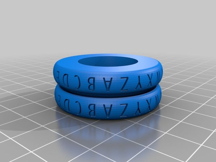 Caesar Cipher Decoder Ring Rounded by cymon.