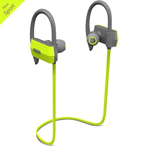 Wireless Bluetooth Sport Earbuds Headphones In Ear Ergonomic Design Workout Headphones Headset with Mic Sweatproof Flat Cable Earpieces Earhook Running Cordless Earphones---Green - http://www.exercisejoy.com/wireless-bluetooth-sport-earbuds-headphones-in-ear-ergonomic-design-workout-headphones-headset-with-mic-sweatproof-flat-cable-earpieces-earhook-running-cordless-earphones-green/fitness/