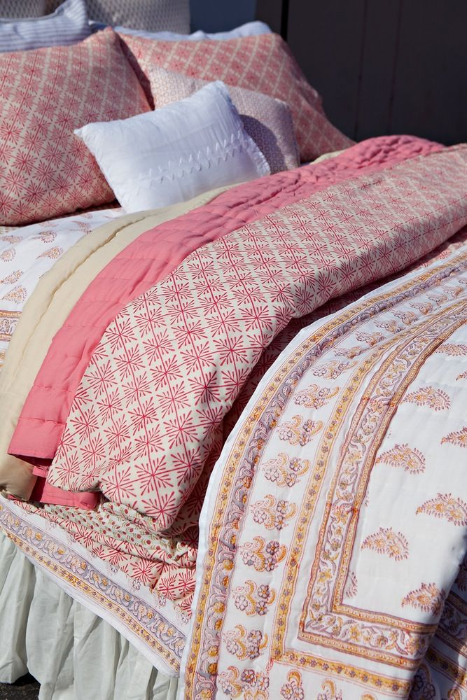 Kerry Cassill - Luxury Indian printed Bedding and Apparel — Summer Splash Duvet