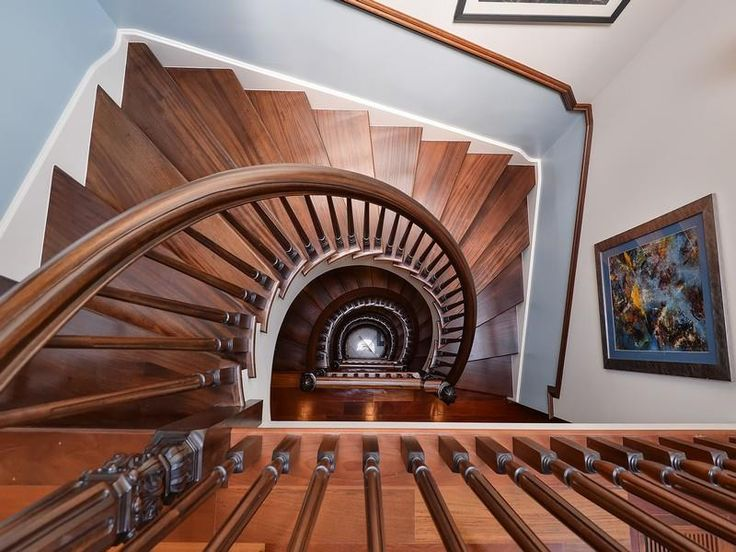 This Is A GORGEOUS Shot Of This Beautiful Mahogany Spiral Staircase In This  Lincoln Park Estate: 2540 N Burling Street Chicago Illinois, 60614