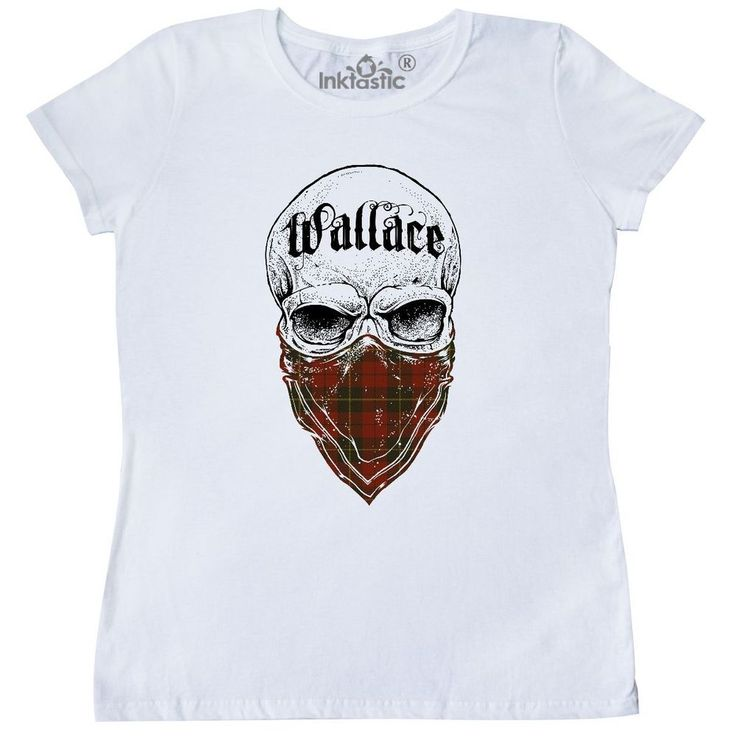 Inktastic Wallace Tartan Bandit Women's T-Shirt Clan Plaid Scottish Clothing #Inktastic #GraphicTee