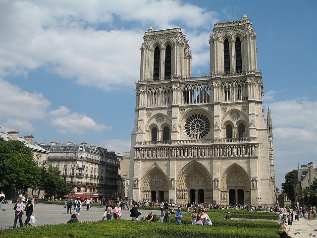 Notre Dame de Paris.  Beautiful catholic cathedral is the fourth arrondissement of paris.  Began in1163 it was essentially complete by around 1345: Hello Paris, Dame, French Gothic, Paris, Gothic Cathedral, Famous French, Gothic Architecture, Catholic Cathedral, Our Lady