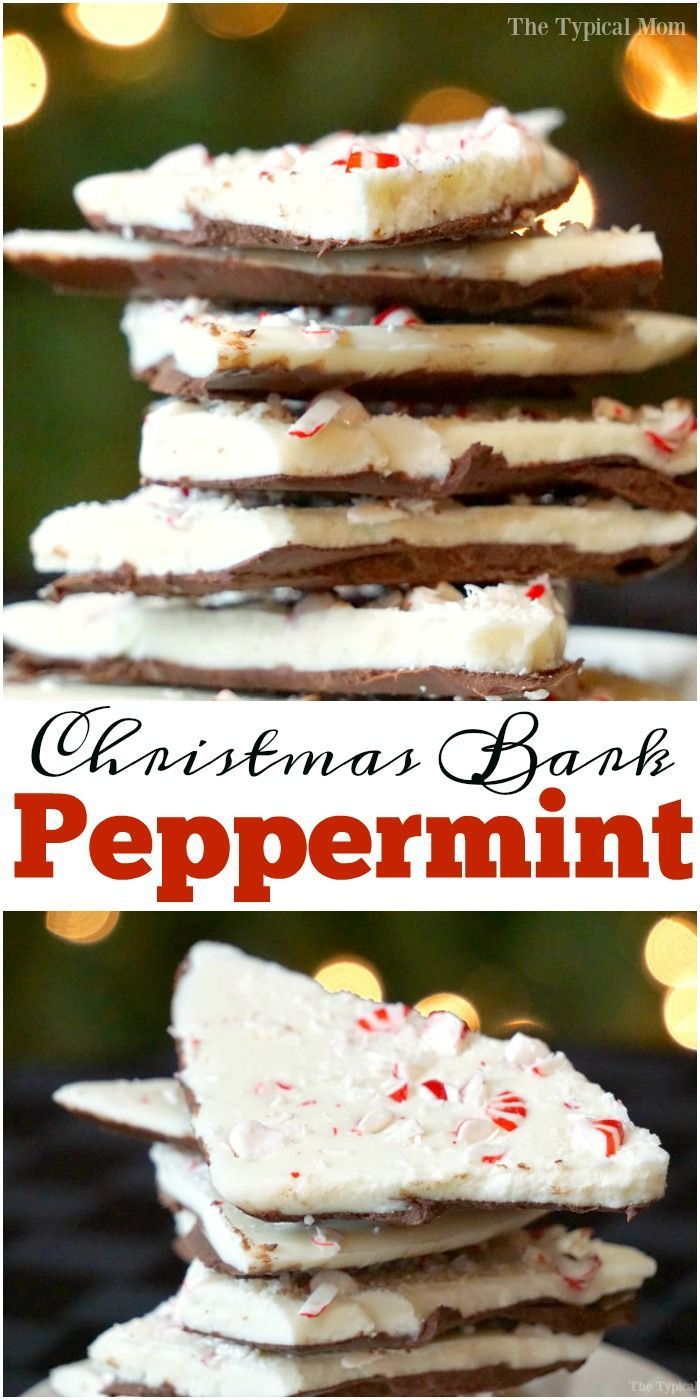 EASY peppermint bark recipe. If you're wondering how to make peppermint bark this is the most simple. Easy way to cook with kids at holiday time with this. via @thetypicalmom