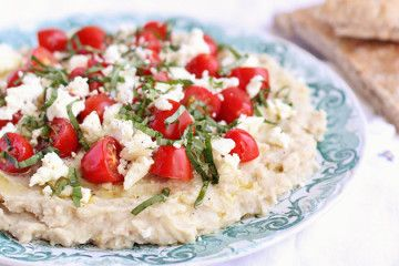 White Bean Dip with Cherry Tomatoes, Feta and Basil | Tasty Kitchen: A Happy Recipe Community!