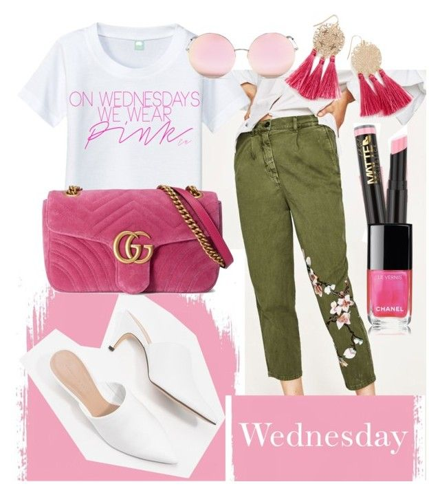 """Wednesday outfit"" by lausgdr-1 on Polyvore featuring CHARLES & KEITH, Gucci, L.A. Girl, Chanel and Matthew Williamson"