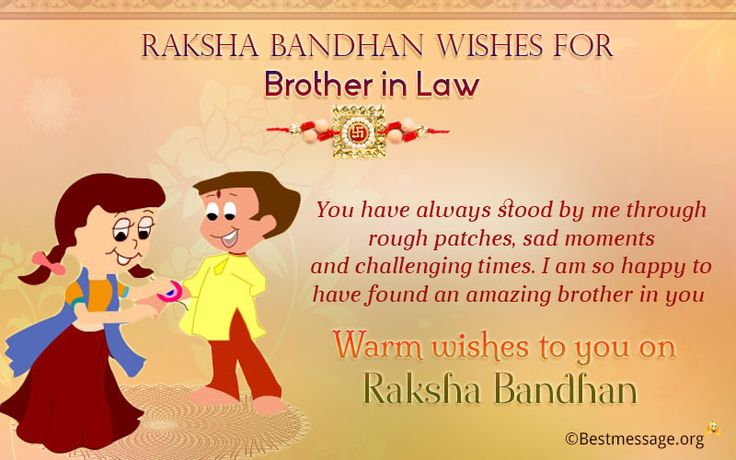 Happy Raksha Bandhan 2016 wishes to your brother in law