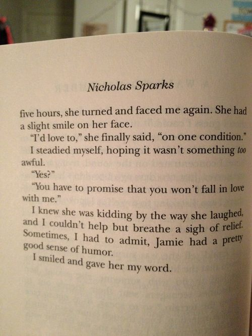 a walk to remember book quotes with page numbers - photo #5