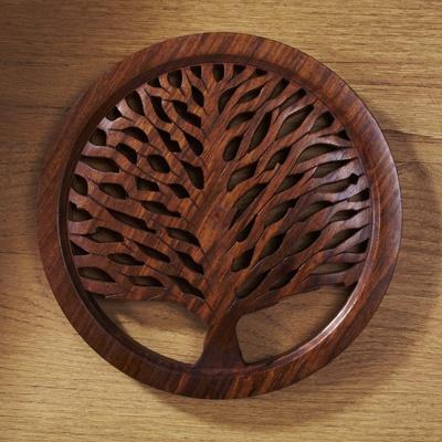 Tree Of Life Wooden Trivet Fair Trade Winds Tree Of