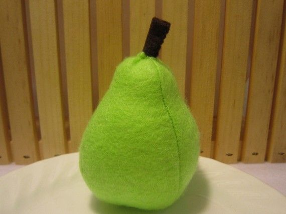 Hey, I found this really awesome Etsy listing at http://www.etsy.com/listing/66620274/felt-food-pear