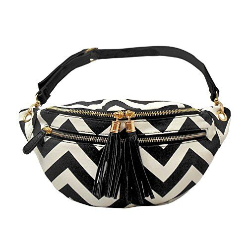 Save $20.05 on Women's Cute Chevron Fashion Fanny Pack Bag - fits up to 40 inch waist; only $29.95