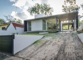 Hermosa casa de un piso y dos dormitorios, estructura moderna de hormigón