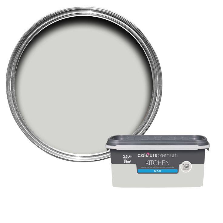 Colours Kitchen Grey Hints Matt Emulsion Paint 2.5L | Departments | DIY at B&Q