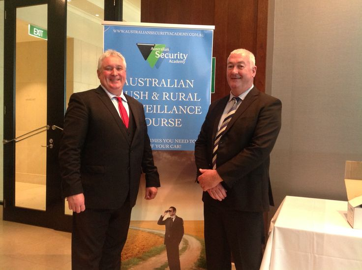 Senior Instructors Mike Evans and Pat Flynn on day three of the September 2016 Private Investigator Course at the Australian Security Academy, the Westin Melbourne Australia.