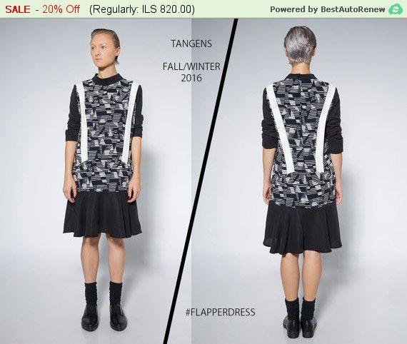 Black and White Dress / Sport Elegant Dress / by TangensDesigns