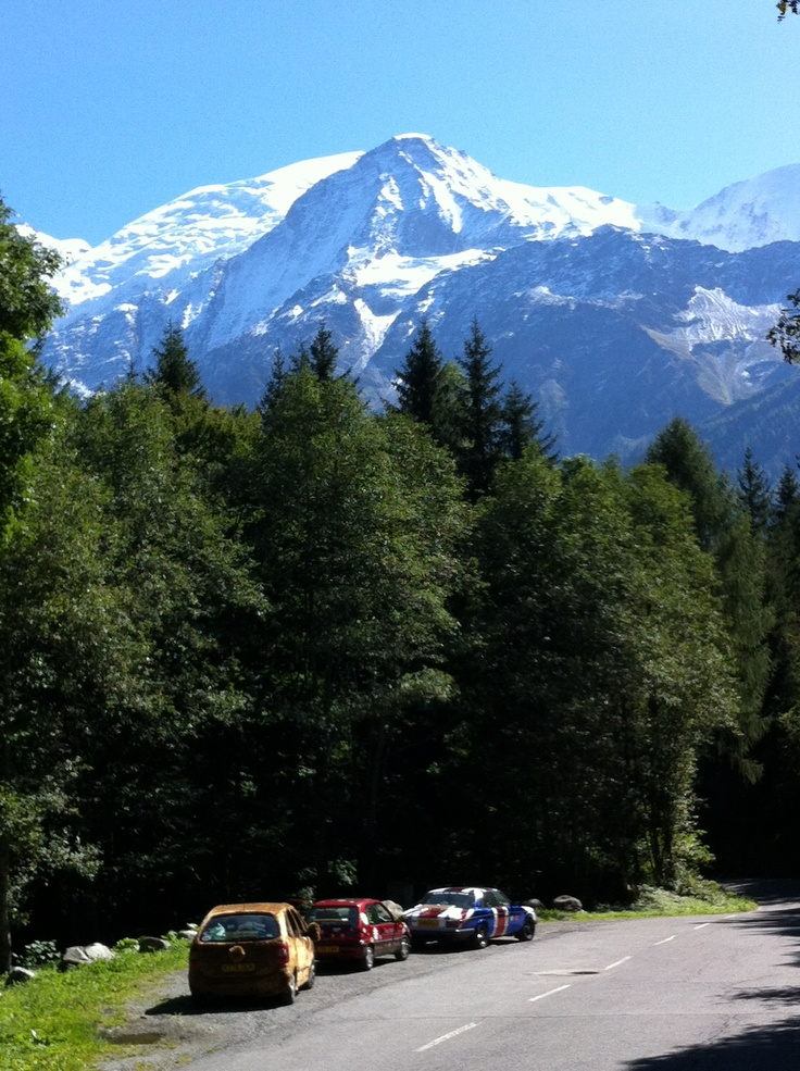 Mont Blanc view on the Random Rally