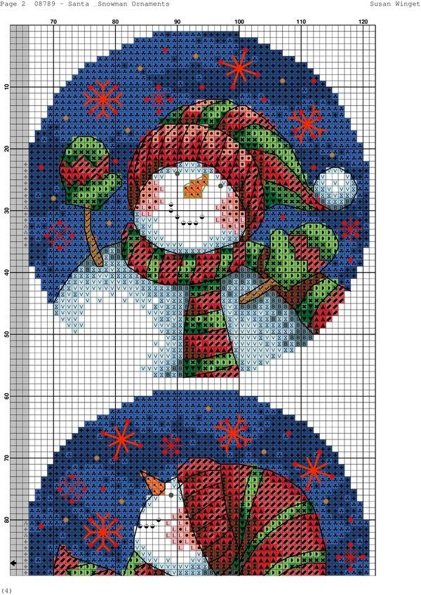 Santa & Snowman Ornaments-002