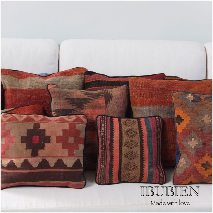 All IBU BIEN's pillow covers are handmade with 40-50 years old vintage rugs of the highest quality. Now, 40 years later, they are used for stunning Vintage pillows.  #Pillows #Cushions #Pillow #Cushion #Homedecoration #Kilim #Kilimpillows #Vintage #Vintagepillows #Kilimcushions #accessries #homeaccessories For sale on Etsy: https://www.etsy.com/shop/IBUBIEN?ref=pr_shop_more