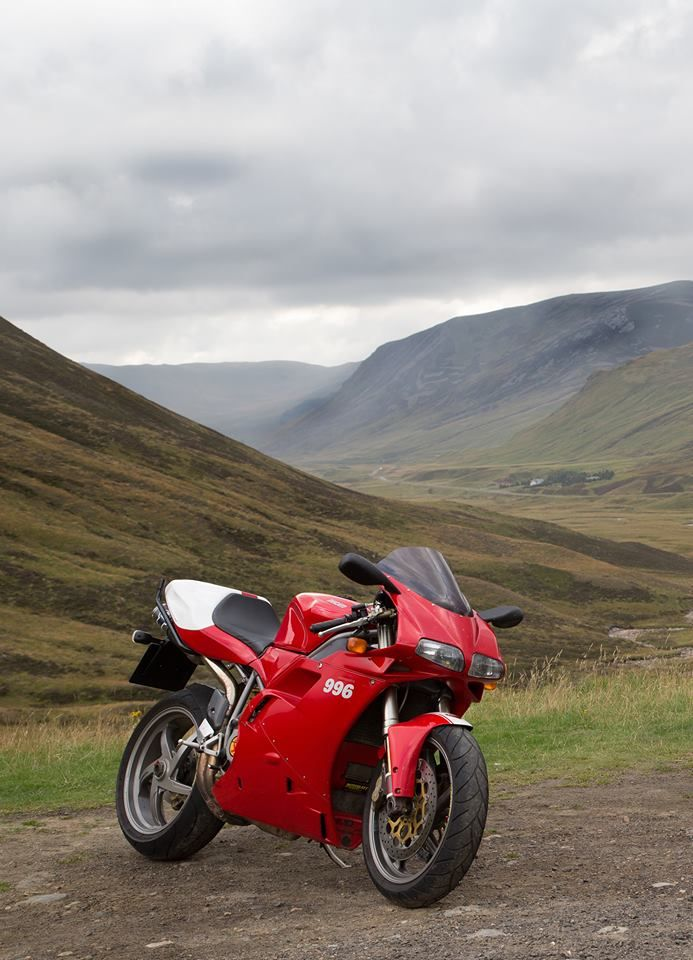 Right place for a good ride. Ducati 996 Monoposto.